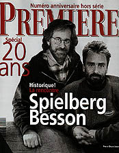 Article Couverture PREMIERE Cover : Steven Spielberg & Luc Besson