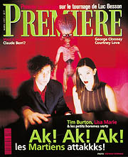 Article Couverture PREMIERE Cover : Tim Burton - Mars Attacks!