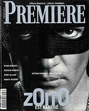 Article Couverture PREMIERE Cover : Antonio Banderas - Mask of Zorro