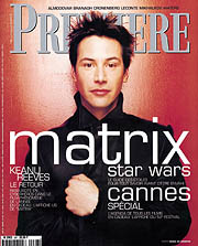 Article Couverture PREMIERE Cover : Keanu Reeves - Matrix